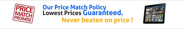 price match promise, lowest prices guaranteed, never beaten on price
