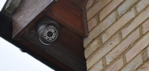 HD camera fitted to house