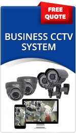 Business CCTV systems with picture of cctv cameras and remote viewing
